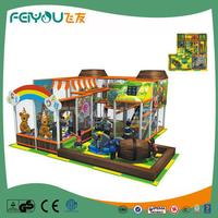 Naughty Castle Alibaba French China PVC Coated LLDPE Amusement Park Kids Indoor Tunnel Playground