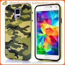 Olja 2014 hot colored leopard pattern tpu case for samsung galaxy s5, 2 in 1 plastic tpu bumper case for samsung mobile phone