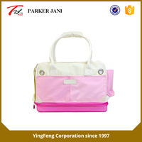 Portable pink 600D oxford cloth pet bag for travel