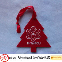 2014 Hot sale !!! Felt Christmas tree ornaments with ribbon Made in China