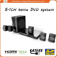 New arrived factory supply 5.1 home theater with bass treble volume