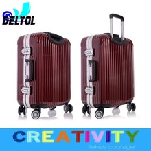 2015 cool lugagge suitcase aluminum sash abs+pc material trolley luggage suitcase/luggage cabin