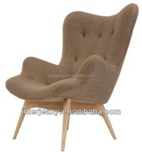 1045 Grant Featherston Contour Chaise Lounge Chair with ottoman