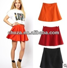 C60325A 2013 NEWEST STYLE FOR WOMEN'S PURE COLOR SHORT PENCIL SKIRT