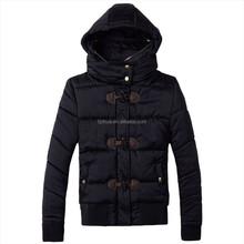 2015 woman Keep Warmer Sport jacket with wood butten PU Side