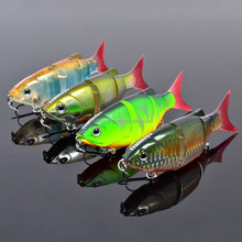 Multi section jointed transparent minnow lures plastic fishing lure