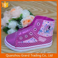 Hip top colorful shoes for girl
