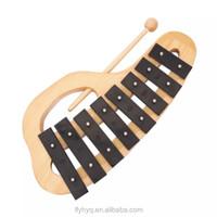 8 keys metal Xylophone Wooden Toys,hand 8-keys xylophone