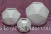 Hot sale Polyhedron shape fiber glass flower vase