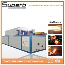 Portable induction heat treatment machine for metal roofing roll forming