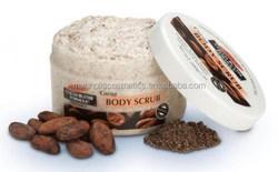 Moisturizing and exfoliate cocoa body scrub cream