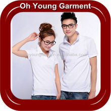 Mens cotton clothing brand name blank plain white short sleeve polo shirt