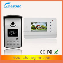 Multifunction/Multiparty Service/ video door bell/amplifying intercom with two station and four extension