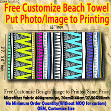 Super magic embroidered personalized cheap beach towel