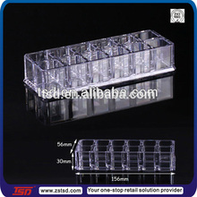 TSD-A479 China factory supply wholesale nail polish display case/storage organizer box/plastic storage holder