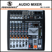 8 channel Audio Mixer MU-12.4USB with USB interface for PC