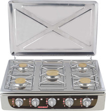Europe type hot selling 5 burners full stainless steel JK-005HHD gas cooker
