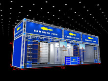Shanghai custom truss booth exhibit display with furnitures export to abroad 03