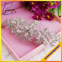 hot selling good quality decorative fancy wedding hair combs hair comb