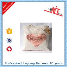 hot sale cotton plain canvas tote shopping bag 2015 Green Fashion cotton eco bag