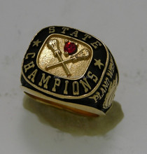 Golden jewelry antique finish baseball championship ring