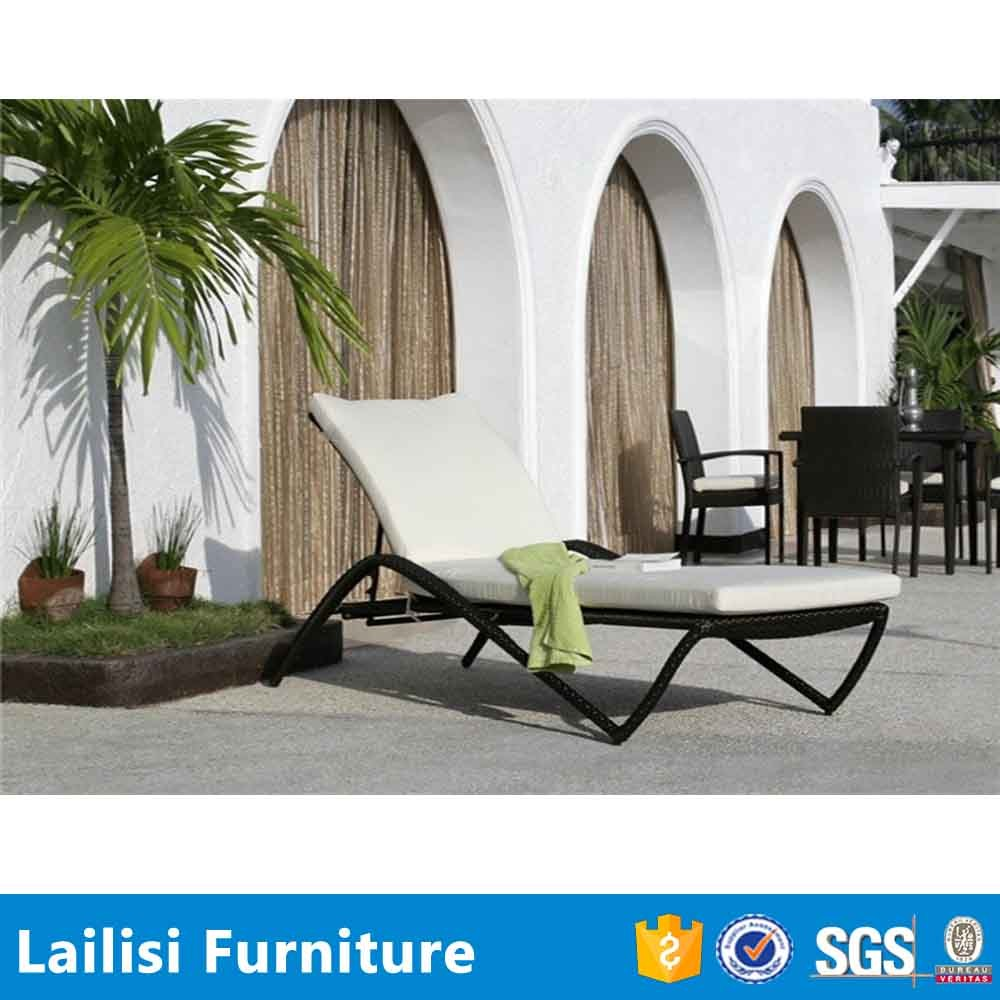 Synthetische zwart rotan tuinmeubelen rotan ronde outdoor lounge ...