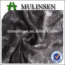 tejido de papel impreso de tela de gasa para la ropa las mujeres