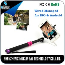 New products monopod cable take pole selfie stick, cable selfie-stick