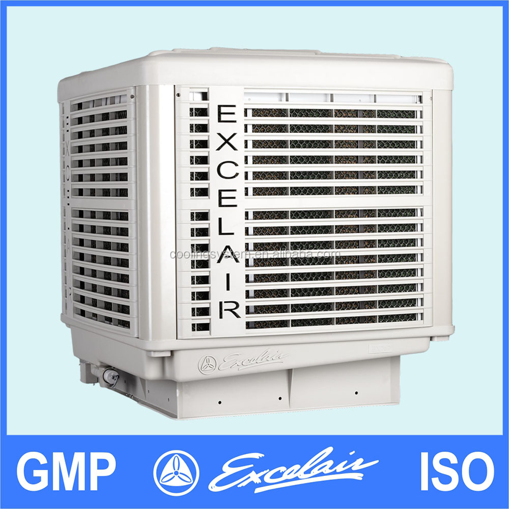 Roof Mounted Swamp Coolers : Outdoor roof mounted installation water air cooler for