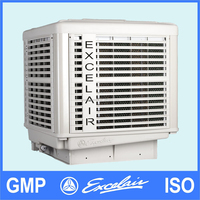 Outdoor roof mounted installation water air cooler for factory air cooling