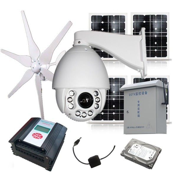 Outdoor wireless solar power security ip camera 3g sim for Motorized security camera system