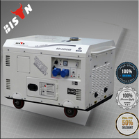 BISON China Zhejiang 15KW Air Cooled New Design Portable 15KVA Silent Diesel Generators