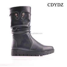 CDYDZ Y31 2015 new casual European and American fashion sexy Pure wrinkle side zipper short shoes Boots for women wedges