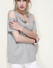 Stylish ladies new design fashion top cutting