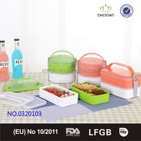 Handle Classic 2 Layer Lunch Bento Box includes Spoon, fork and knife