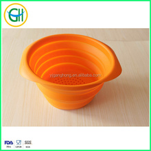 Hot sale NEW green sprouts collapsible silicone steamer/strainer bowl/mixing bowl