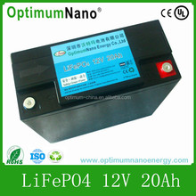Hot Selling 12V 20Ah Lithium-ion Battery for Solar/Bank Power/Golf cart/Solar System