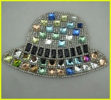 Blight Hot-fix Rhinestone Patch with Bling Strass 8*8 Stone for Handbag