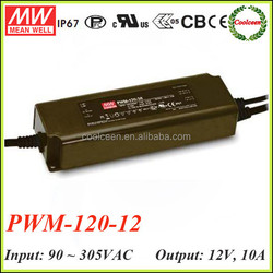 Meanwell PWM-120-12 waterproof electronic led driver