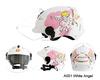 White Angel Cartoon On Road Helmet Motorcycle Helmet Half Face Helmet