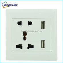 Electrical USB wall socket 220V 2.1A 2.4A