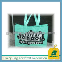 Green PP woven Eco Promotional handle shopping bag