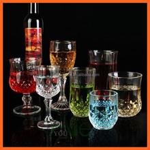 Fashionable diamond classic short glass drinkware whisky glass/embossed whiskey tumbler