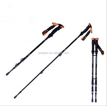 factory price with high quality three section with fast lock of carbon walking stick