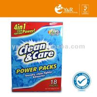2015 magic clean power laundry capsule with water film