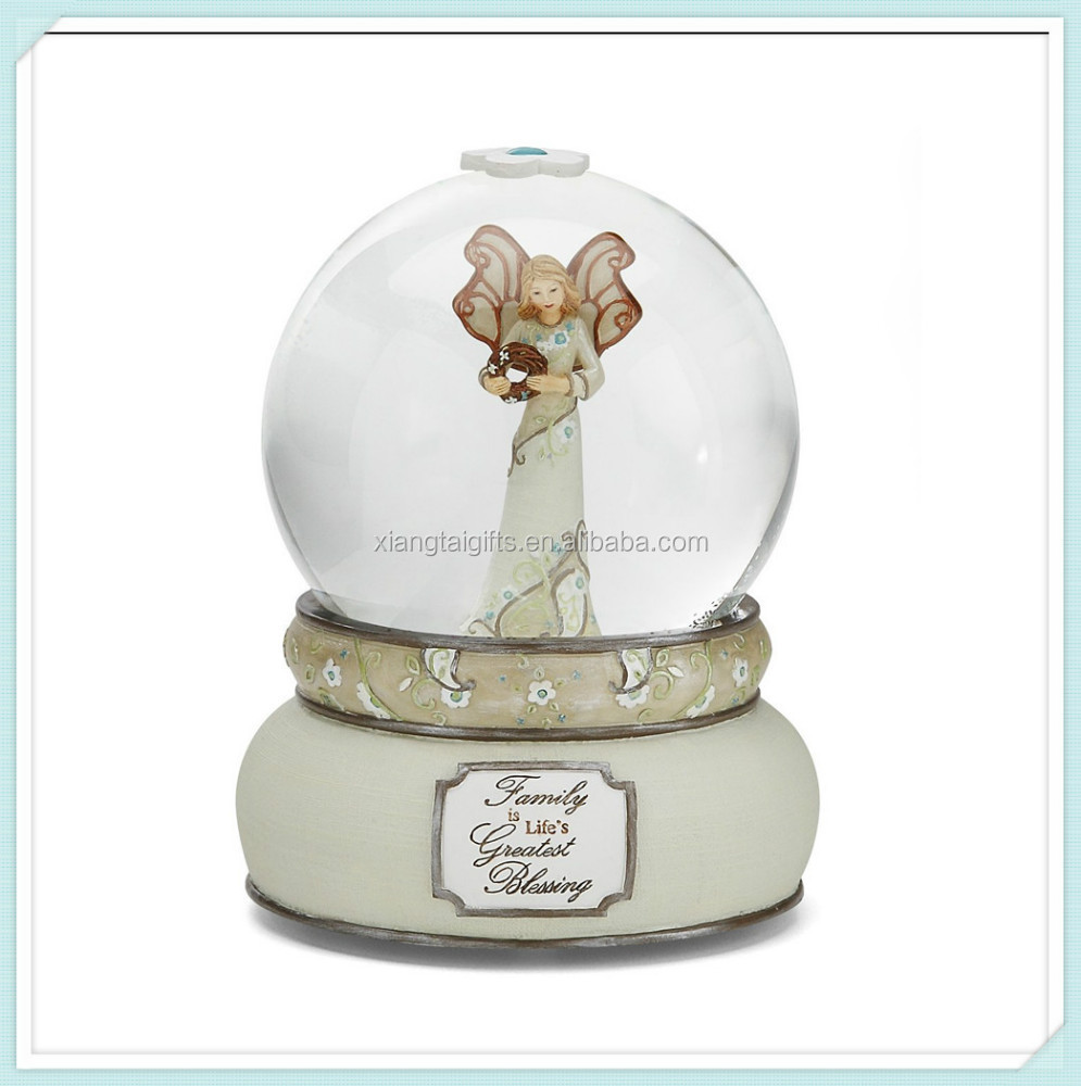 Angel Snow Globe Music Box Custom Craft Snow Globe Angel