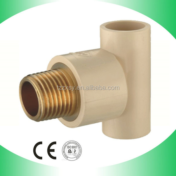 Cpvc brass male tee pipes fittings threaded