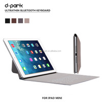2015 New Hot-selling Ultrathin Wireless Bluetooth Keyboard Stand Case Cover For ipad mini 1 2 3