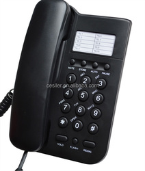 Hotel room phone with caller ID display