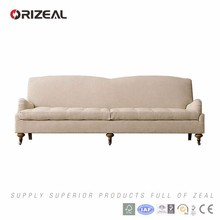 Orizeal English Style Roll Arm Fabric Sofas for Furniture Stores (OZ-FS-2104)